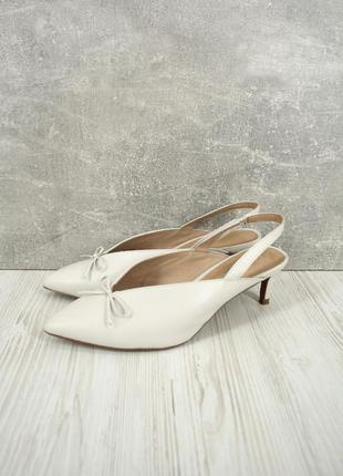 """Стильные брендовые кожаные туфли """"next"""" белого цвета. размер uk6 /eur39"""