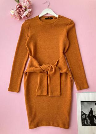 Сукня bikbok сукня светр плаття-светр карамельного кольору, платье свитер карамельного цвета s