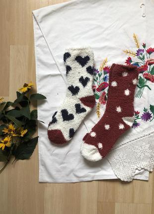 Женские теплые плюшевые носки цена за 1