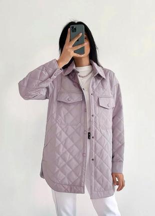 Стеганая куртка рубашка