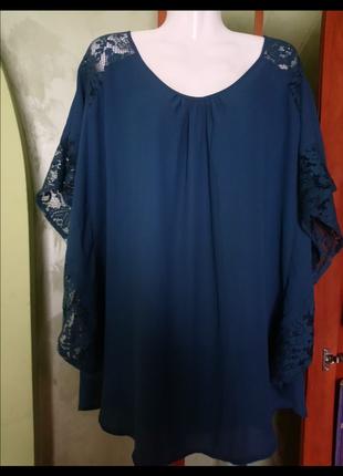 🌺 🌿 🍃 блуза нарядная в стиле боххо р.50🍃 🌿 🌺