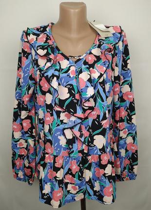 Блуза новая легкая цветочная с баской uk 8/36/xs