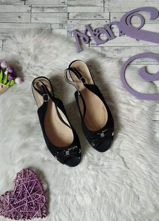 Босоножки женские belletta черные замшевые