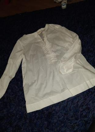 Блузка котон біла