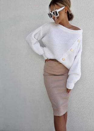 Юбка, юбка рубчик, трикотажная юька, женская юбка