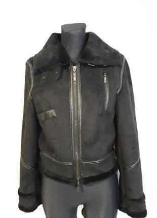 Куртка дубленка укороченная