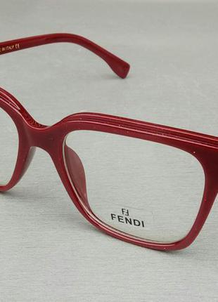 Fendi очки женские имиджевые оправа для очков бордовая