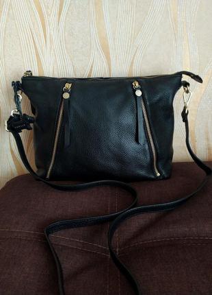 Черная кожаная сумка radley