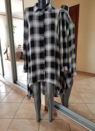 Асимметричное вискозное платье 👗большого размера