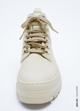 Демисезонные кожаные ботинки zara размер 36
