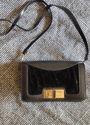 Маленькая сумочка, клатч, вечерняя сумочка, черная сумочка с длинной ручкой