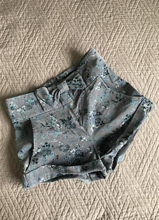 Шорты вельветовые шорты в цветы шорты с бантом