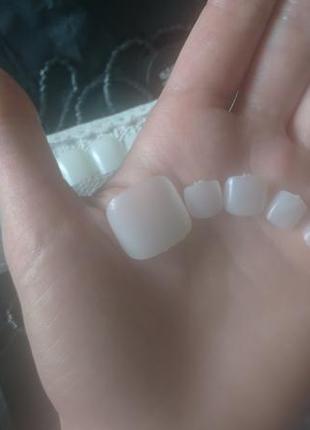 Накладные ногти для пальцев ног, педикюра 60 шт