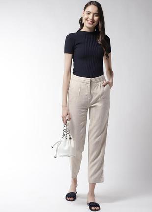 Укороченные брюки со стрелками высокая посадка от marks & spencer