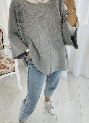 Cos кофта джемпер кейп свитер 100% шерсть
