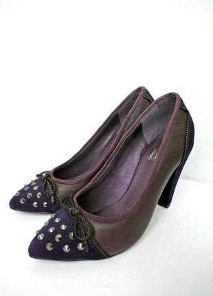 Cтильные модные кожаные туфли best connections. размер 38-38,5.