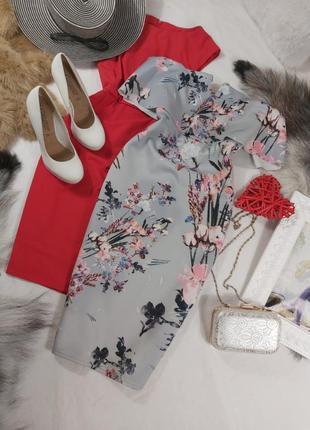 Шикарное стильное нарядное вечернее платье миди без бритель
