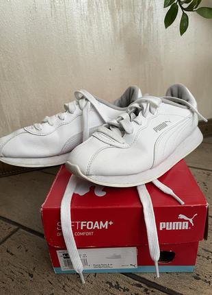 Puma класік кросівки білі шкіра