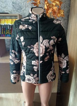 Куртка # куртка демисезонная# куртка цветочный принт