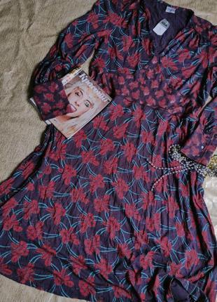 Красивое трикотажное платье большой размер uk 22