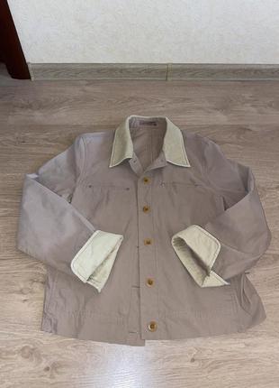 Женский жакет, пиджак, бежевый, подойдёт на размер м