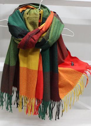 Яркий модный женский кашемировый шарф палантин