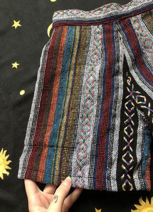 Яркие шорты габеленовые хиппи пэчворк винтаж