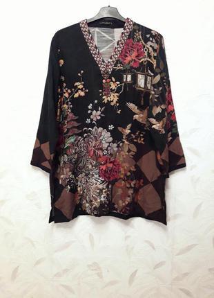 Стильная блуза, туника из хлопка и льна от lime light