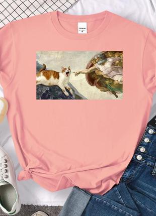 Красива футболка з принтом☺ розмір l, xl