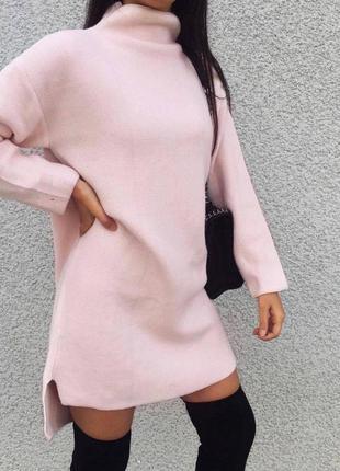 Платье туника худи тёплое