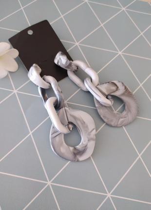 Сережки підвіски цепочки, серьги подвески цепи south beach с сайта asos