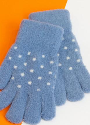Перчатки на 4 - 5 - 6 лет зимние для девочек
