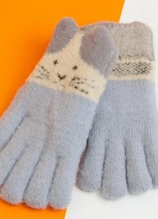 Перчатки от 12 лет для девочек зимние