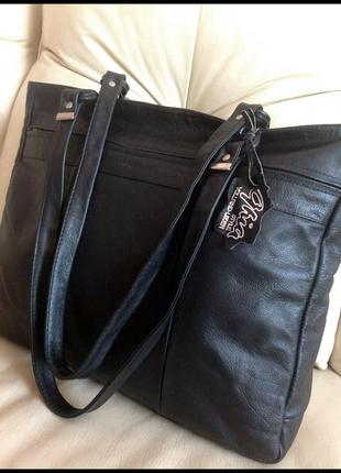 Большая кожаная сумка а4 - 100% натуральная кожа