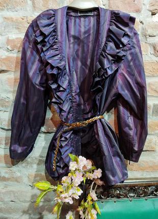 Невероятный жакет, блуза с пышным воротником