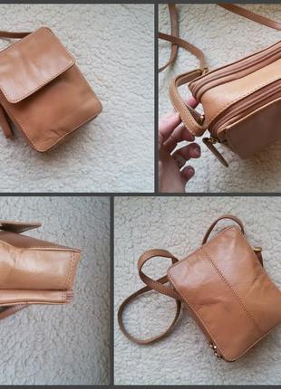Кожаная сумка кросс боди alpha 100% кожа