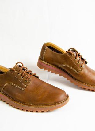 Clarks newby fly кожаные туфли кроссовки оригинал! р. 42 27 см