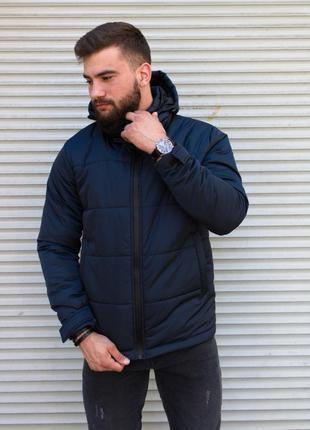 Мужская зимняя куртка тёмно-синяя