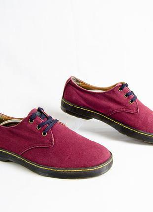Dr martens delray мужские туфли ткань коттон оригинал! р 43 28 см