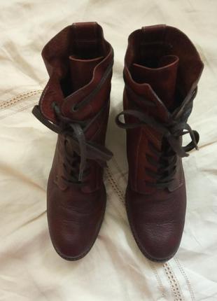Австрийские кожаные ботинки paul green