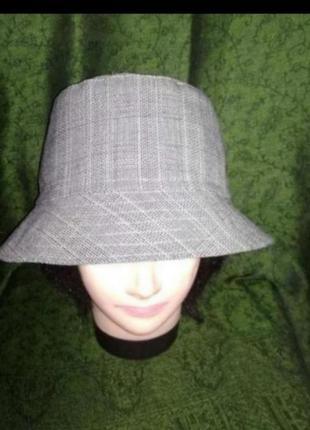 Стильная шляпа-панама в виндзорскую клетку унисекс