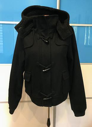 Шерстяная куртка-бомбер с капюшоном на холодный демисезон yes or no