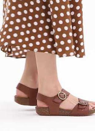 Крутые мегаудобные мягкие кожаные босоножки/сандалии hotter как birkenstock/кожа