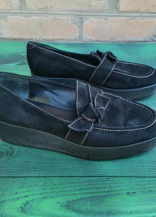 Роскошные кожаные туфли на платформе l. k. bennett