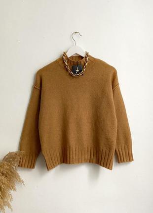 Мягкий оверсайз свитер с горлом atmosphere