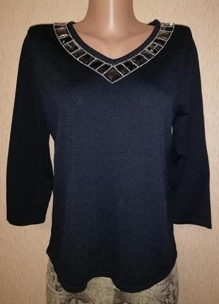 Красивая женская черная кофта, джемпер mia moda
