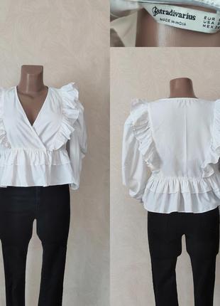 Стильна біла блуза - stradivarius