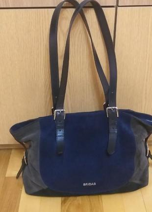 Кожаная сумка тоут bridas, сумка шоппер, большая кожаная сумка