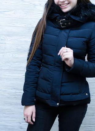 Дівоча зимова пухова куртка zara