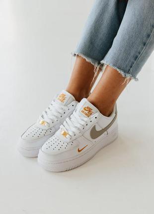 Кроссовки белые кожаные air force размер 36-40